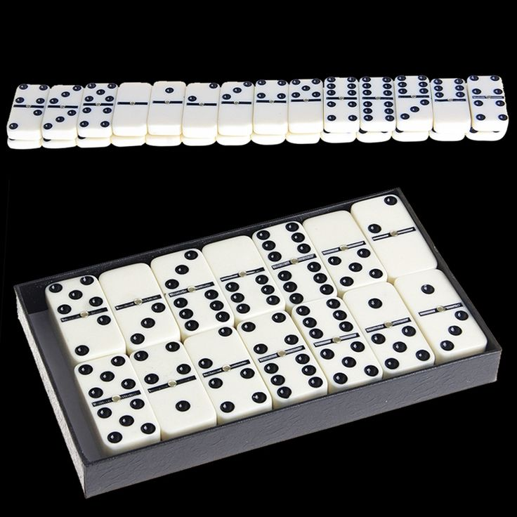 Domino Set White // FREE Shipping Worldwide //    #boardgame #cardgame #game #puzzle #maze
