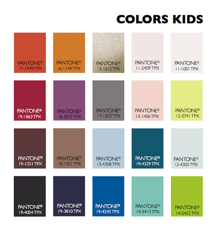 Color Usage Kids Fall Winter 2015 2016 Pinterest