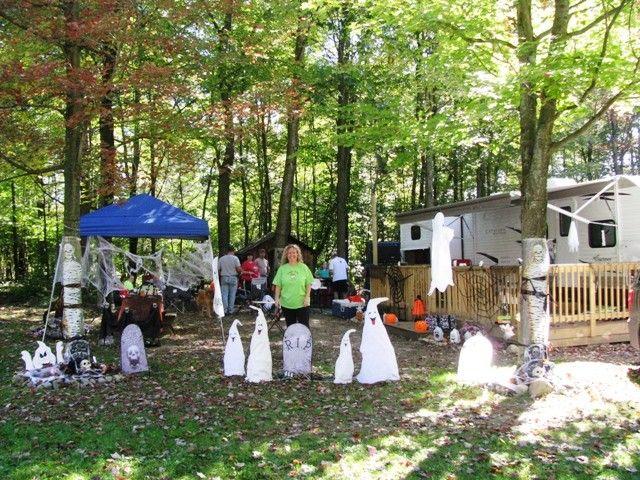 Halloween Weekend - Campsite Decorating!