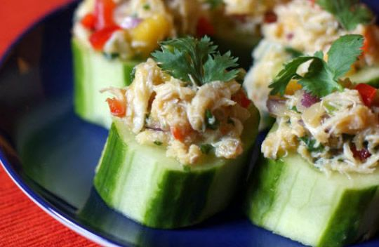 Dear friends, good afternoon, fresh and fast recipe! Danish stuffed cucumbers