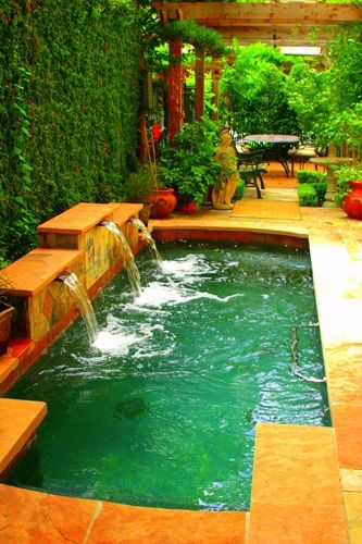Pool with waterfalls - I like how small it is