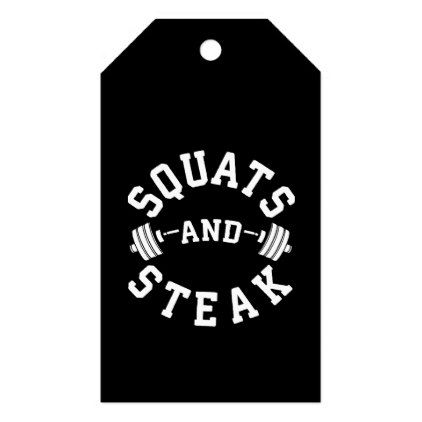 Squats and Steak Leg Day - Funny Workout Gift Tags - home gifts cool custom diy cyo
