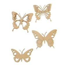 Natural Butterfly Unfinished Wood Shape Craft Supplies DIY Woodworking Craft