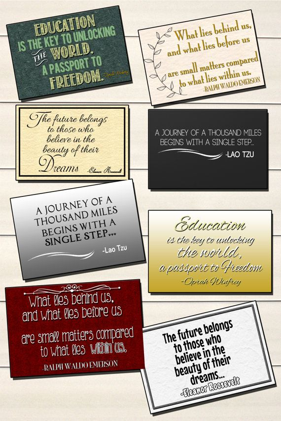 8 inspirational quotes for graduates great by CPNYinstant on Etsy