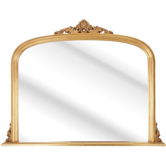 Bring classic elegance to your look with this mirror, showcasing a traditional curved design. Place it on top of your mantelpiece or on the dressing table in your bedroom.