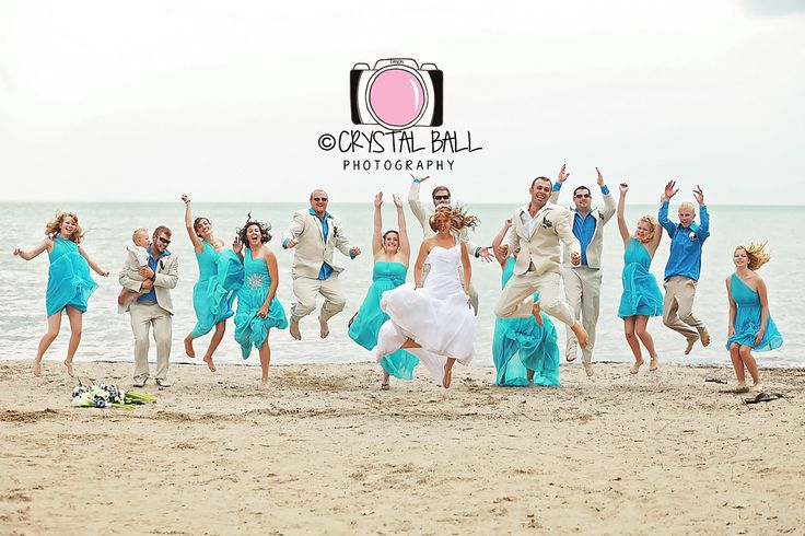 Love a good jump shoot with a fun wedding party!
