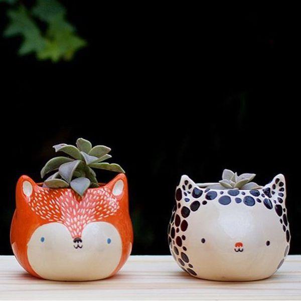 25 niedliche Tiertopf-Ideen für Mini-Pflanzgefä…