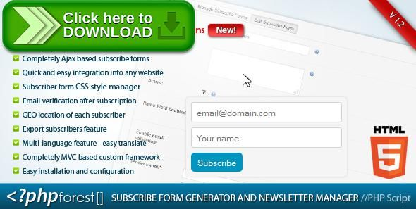 [ThemeForest]Free nulled download Subscribe forms generator and subscribers manager from http://zippyfile.download/f.php?id=54880 Tags: ecommerce, create newsletters, dynamic subscribe forms, generate subscribe forms, manage subscribers, newsletter manager, newsletters, Subscribe forms generator, subscribers management