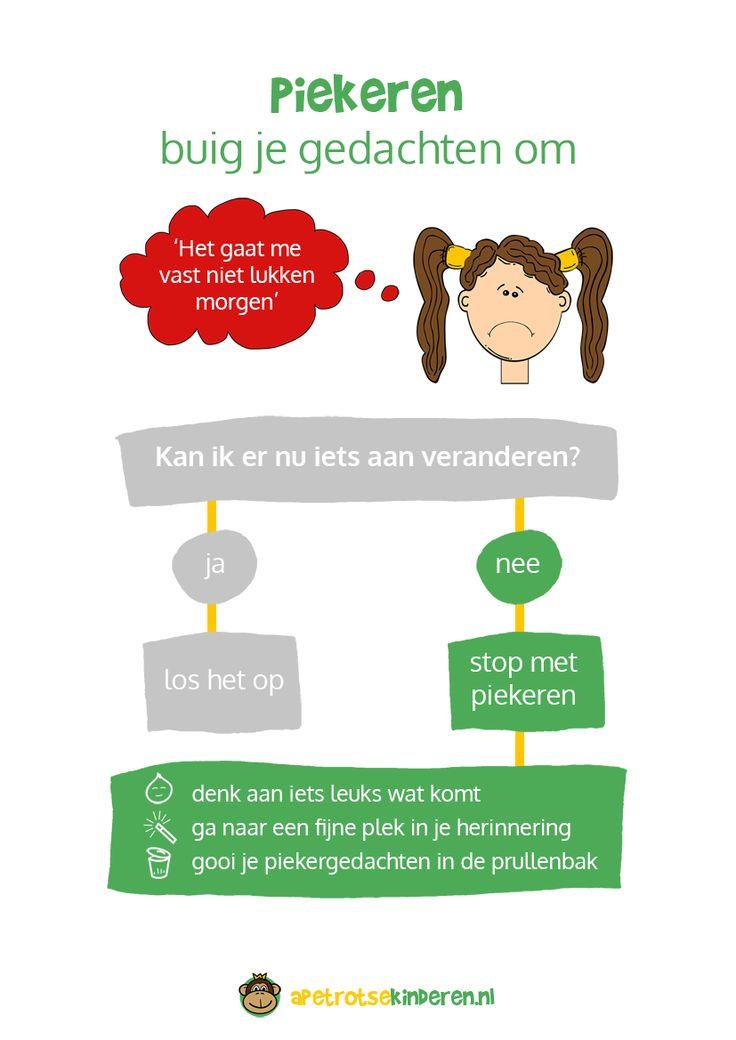 Piekert je kind veel? Ligt jouw kind wakker van het denken? Lees de 8 tips om jouw kind te helpen het piekeren te stoppen.