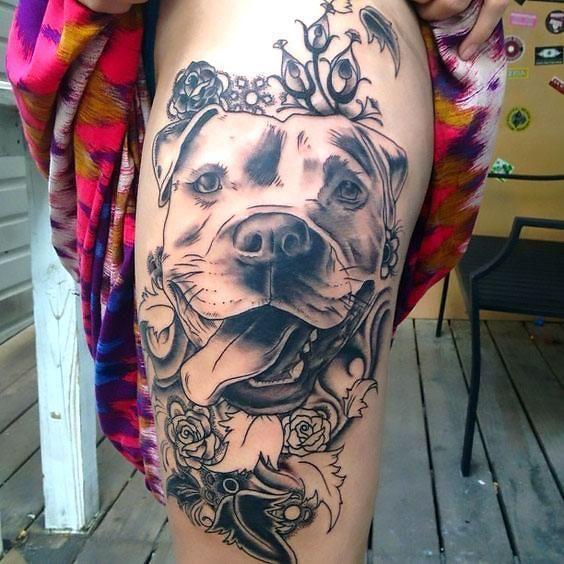 33 ideas lindas y encantadoras de los tatuajes del perro para los amantes del perro   – tattoo