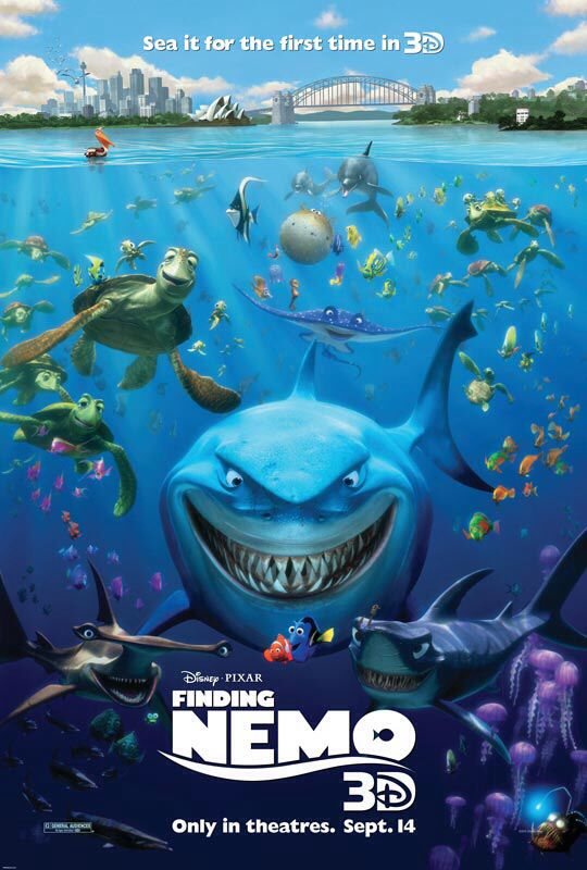 Finding Nemo - See the trailer http://trailers.apple.com/trailers/disney/findingnemo3d/