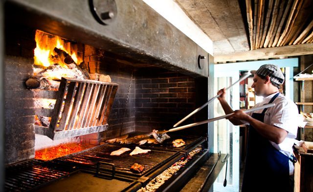 restaurants that cook with wood grill | La Huella-wood fire grill | Fire Cooking