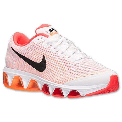 Womens Nike Air Max Tailwind 6 Running Shoe White,Red,Orange Sz 6 6.5