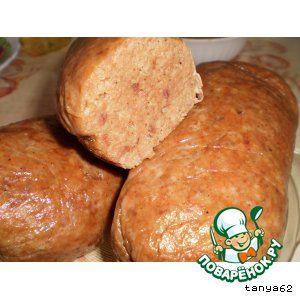 Домашняя колбаска (печеночно-мясная)