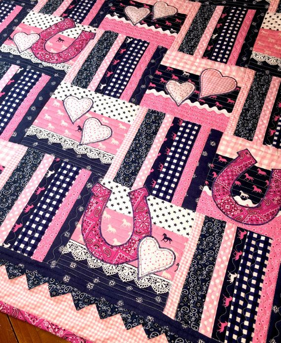 Lil' Princess Cowboy - Baby Girl Quilt, Western baby girl Quilt, Cowboy Quilt, Wall hanging,