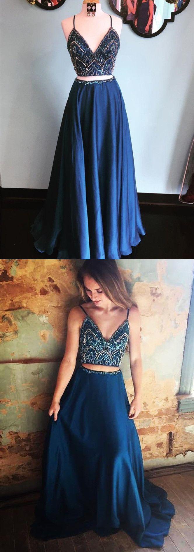 2 Pieces Navy Blue Prom Dress Dark Blue 2 Pieces Formal Dress Evening Dress 2 Piece Formal Dresses Chiffon Evening Dresses Prom Dresses Blue [ 1886 x 665 Pixel ]