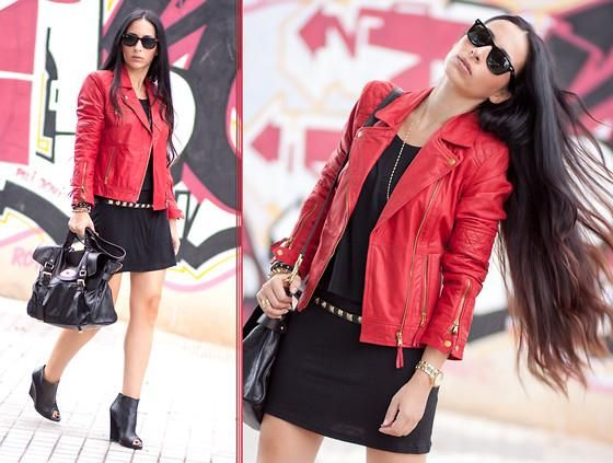 Красная кожаная куртка купить