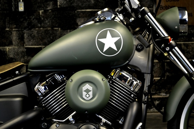 V star 650 Army Edition Drag star Bobber Pinterest