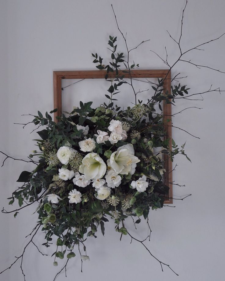 Flowers arranged last night for my lesson with @harrietparryflowers who knew you could have so much fun with an old frame and some chicken wire. Good flowery times.