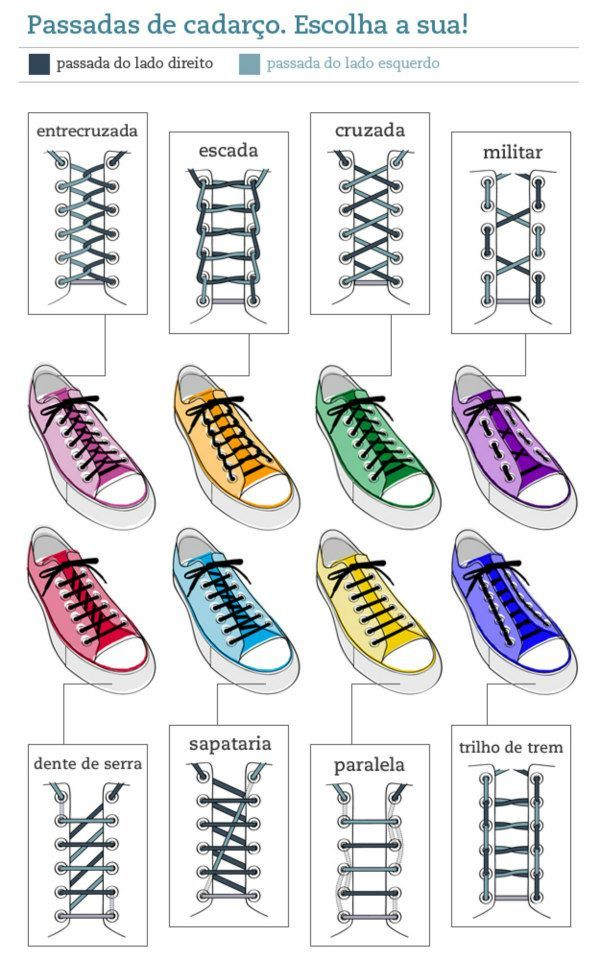 Ways to do your shoe laces