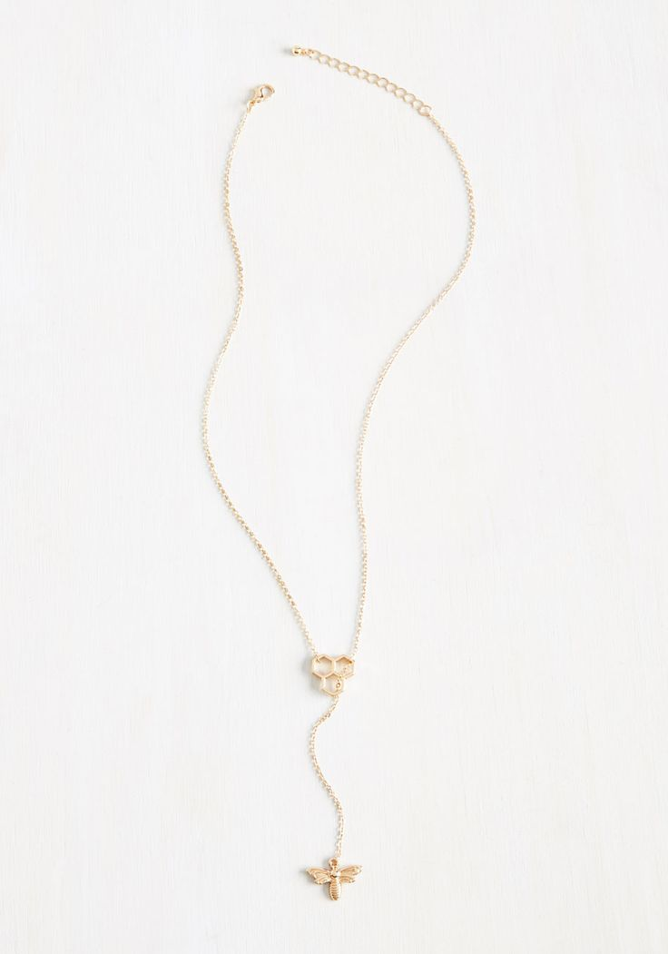 Truth Bee Told Necklace. #gold #modcloth
