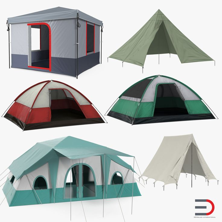 3D Camping Tents Collection