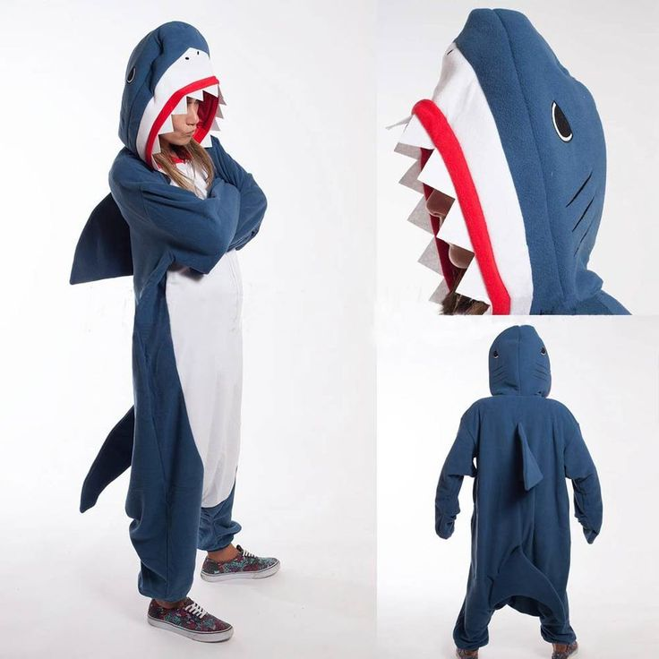 Adult Pyjamas Cosplay Costume Blue Shark Onesie Sleepwear Homewear Unisex Pajamas Party Clothing For Women Man