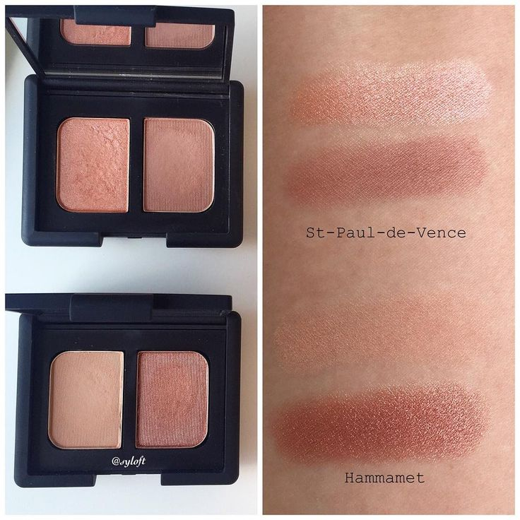 Comparison of Nars Duo Eyeshadow St-Paul-de-Vence and Hammamet (the latest Spring duo from Nars).