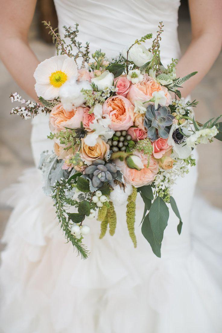 a bouquet with succulents