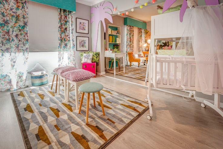 Paulo Piteira | Quarto de Criança | Children's Bedroom | White | Palm Trees | Colorful