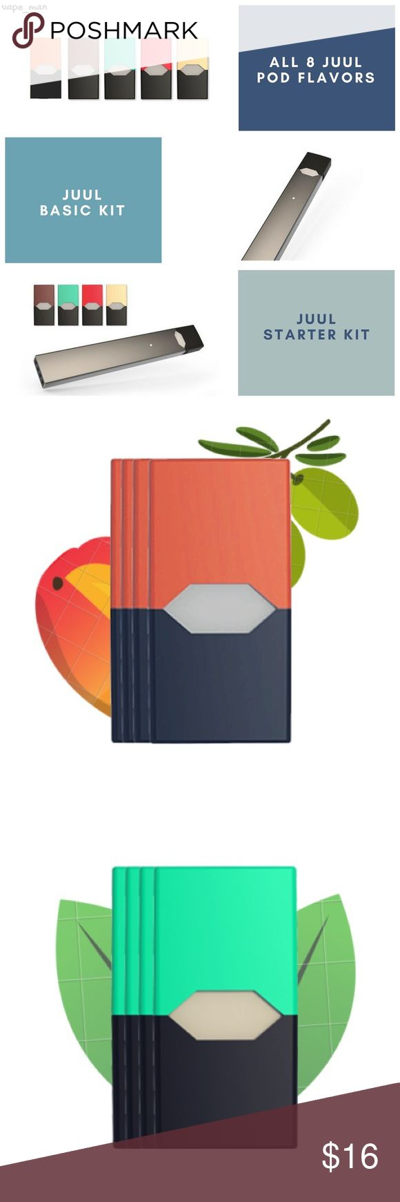 JUUL Pods - All 8 flavors - 4 Pods/pk - $16 JUUL Pods for sale - 100% Authentic - 4 Pods per pack - 5% Nic  All 8 flavors are available  Same day SHIPPING  No limit to how many you can order!   Discount only on orders of more than 8 packs.   ! JUUL Accessories