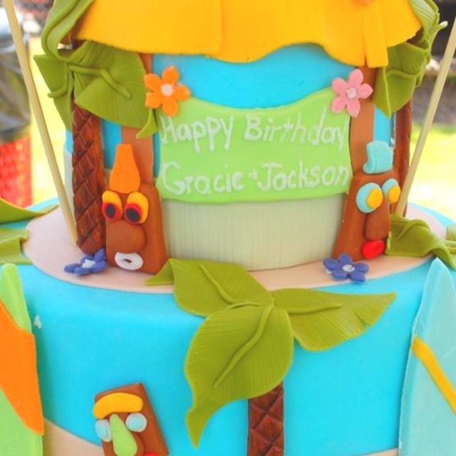 Luau birthday cake.