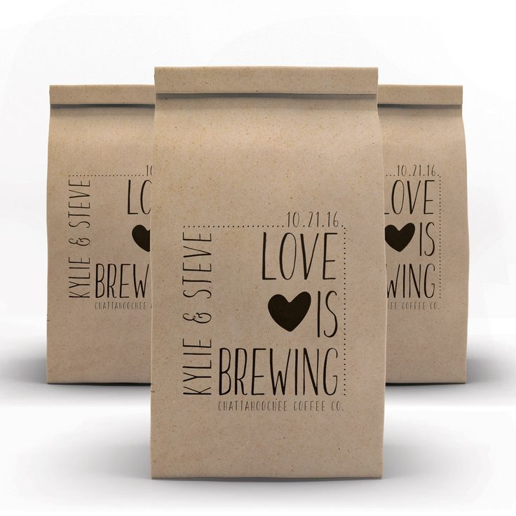 """""""Love Is Brewing"""" Coffee Wedding Favors"""