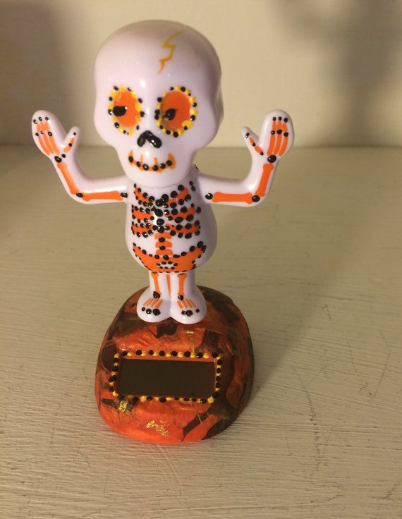 Solar Powered Halloween Dancing Toys by MikesEclectacy on Etsy, $10.00