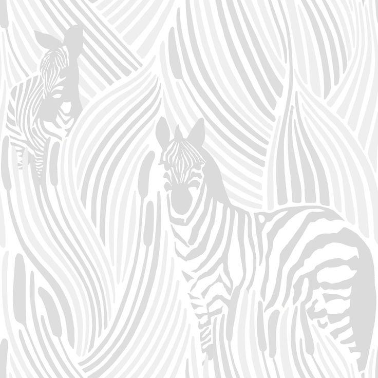 Piilossa White wallpaper by Vallila