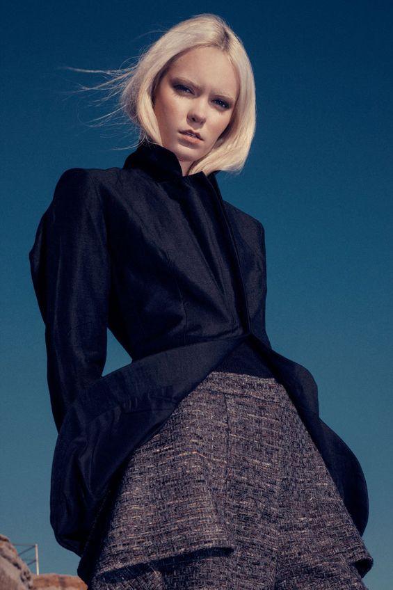 Inder Dhillon peplum shorts on Fashionising.com