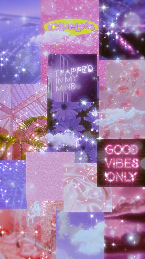 Pink Purple Collage Pink Wallpaper Unicorn Wallpaper Purple Wallpaper Iphone Apple iphone wallpaper unicorn ungu