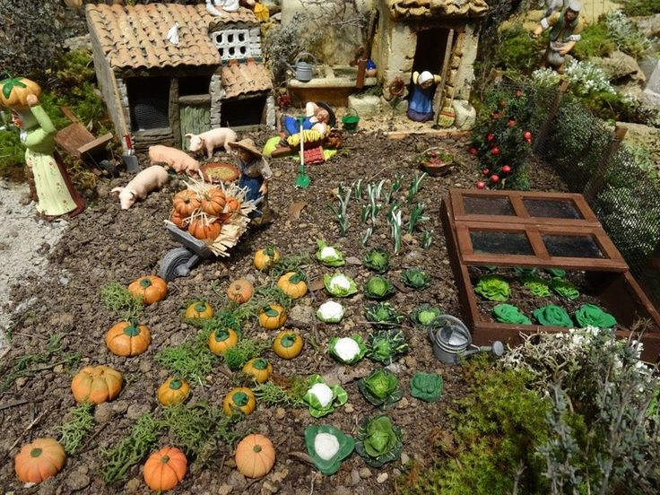 Le potager santons et cr ches pinterest for Jardin wesserling noel