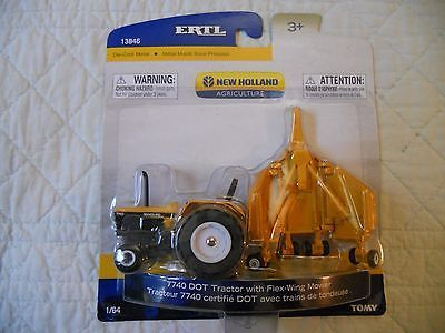 Ertl Farm Country Toy New Holland 7740 Tractor Mower Construction Set MIP 1/64