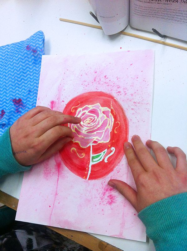 Masking Fluid - a great idea and technique to use with watercolours, from our kids art class. www.artandco.com.au