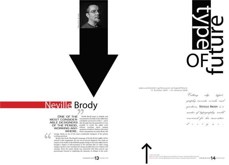 Neville Brody Exhibition by seminis on deviantART