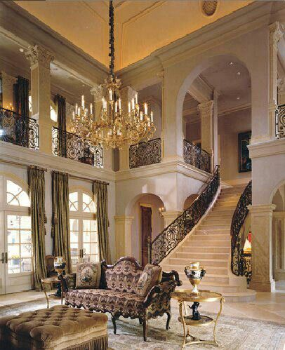 Elegant residences home decor that i love pinterest for Mansion foyer designs