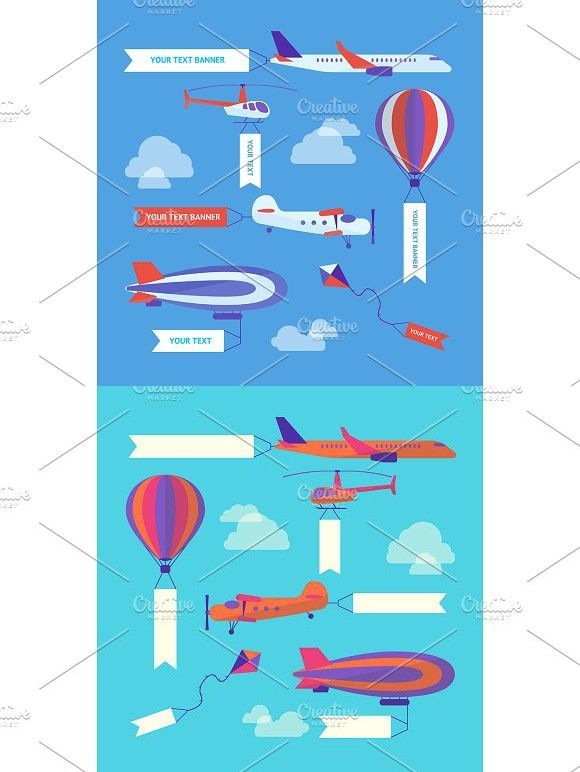 Flight Banners Electronic Product Banners