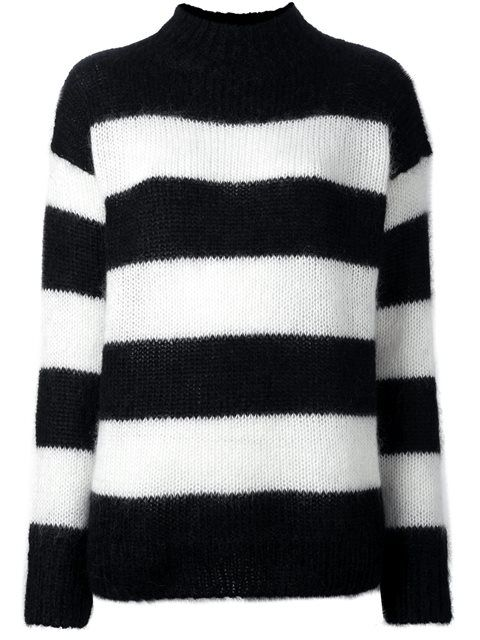 R13 'Nancy' striped jumper. #r13 #cloth #'nancy'条纹毛衣