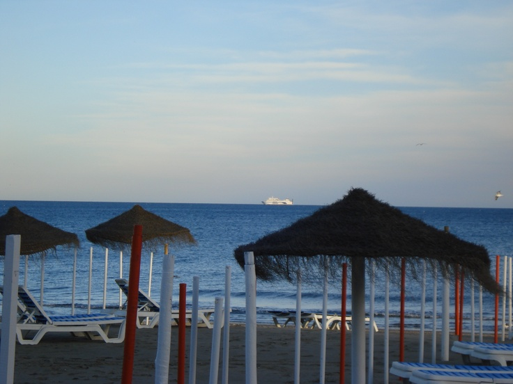 ...just a quiet afternoon at the beach Carihuela, Torremolinos