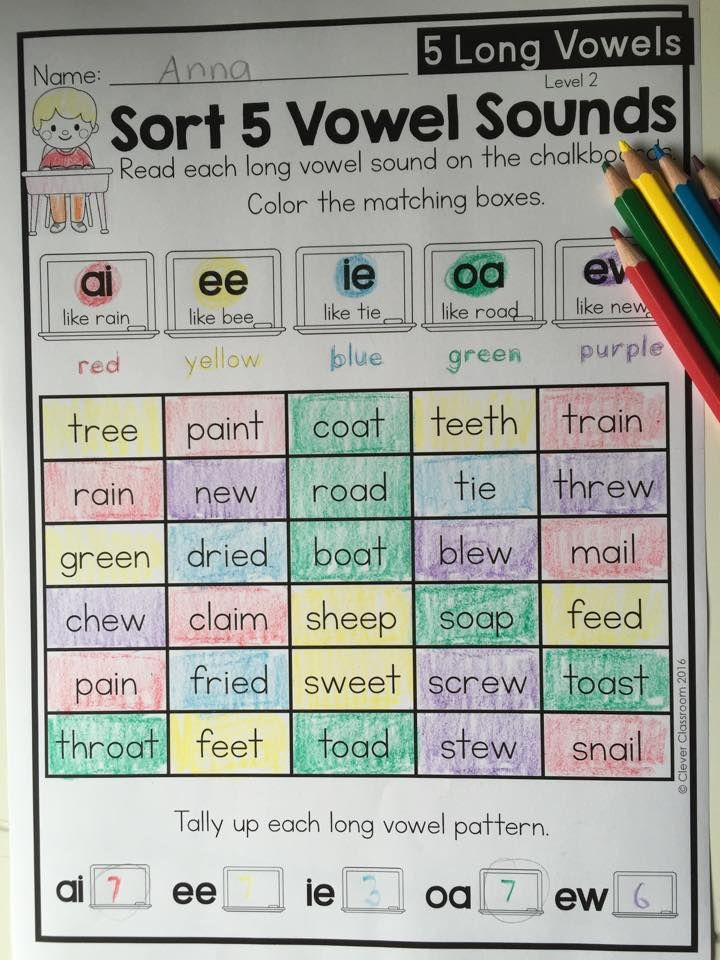 Long vowel sorting pages. See them all via clever Classroom.