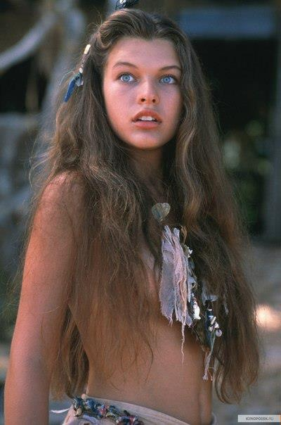 "Milla Jovovich.....as a teenager in the movie ""Return to the Blue Lagoon"""