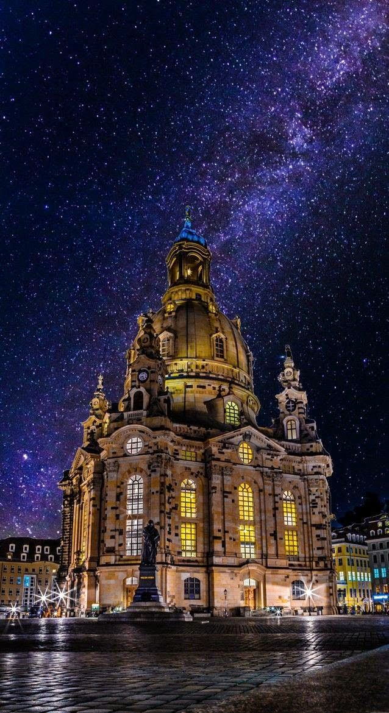 Dresden Frauenkirche and milky way - Dresden - Germany