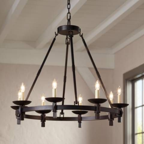 """Balsimo 30"""" Wide 8-Light Spanish Traditional Chandelier - #7C885 