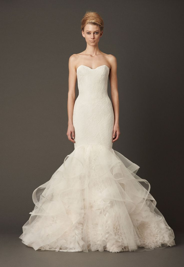 I love how soft this whole dress is. Even at the bottom the ruffles are simple yet elegant.